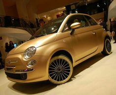 This Fiat 500 Pepita brings new meaning to the term Luxury ride. The Fiat comes with a 24k gold paint job, Swarovski crystal studded gear shift, hand brake and foot pedal, cashmere floor mats and gold painted alloy wheels.  You even have a choice between crocodile, snake, shark, skate or lizard leather seats and an assortment of precious gems to add to the interior. Yours for  €60,000.