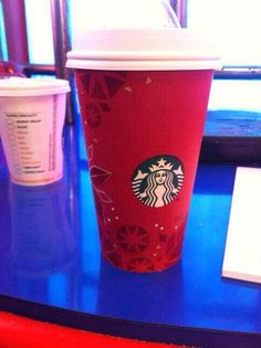 Christmas Starbucks cups :(