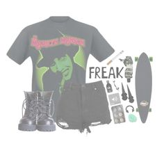 """""""× Who am I to disagree? ×"""" by wwelover02 ❤ liked on Polyvore featuring Boohoo, Sector 9, Aesop, Bling Jewelry, teen, emo, grunge, goth and marilynmanson"""