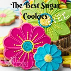 Beautiful and delicious sugar cookies that are perfect for a birthday party, BBQ and gifts!