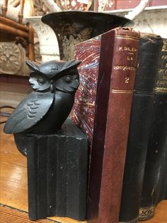 Vintage owl iron bookends at the Agoura Antique Mart!