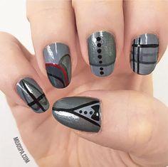 Mojo Spa™ | 50 Shades of Grey the Mojo Way #grey #nailart #nail #design fifty shades of grey inspired nails