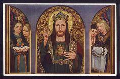 Jesus Christ Vintage Religious Postcard Sacred Heart Jesus