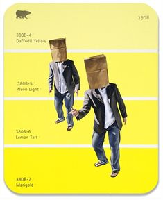 """380B - Brown Paper Bag, Artists with Huge Egos: Shawn Huckins' painting """"The Paint Chip Series"""""""