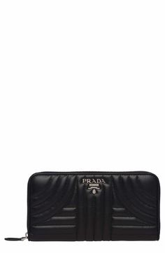 5d3d1681dd59 Main Image - Prada Quilted Calfskin Leather Zip-Around Wallet My Wardrobe,  Shopping Bag
