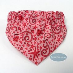 Hearts and Stars Dog Bandanas in Pink or Blue Handmade and custom sized in your choice of Pink or Teal Blue, this is asweet design for Valentine's Day or any occasion. This fun fabric has whimsical hearts, stars and swirls. This bandana can be worn all year round for any occasion. Order it as either a Scrunchie Bandana with an elastic neck or as a Collar Slipcover-style bandana. | SewAmazin #indiemade