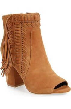 Rebecca Minkoff 'Iris' Open Toe Fringe Bootie (Women) available at #Nordstrom