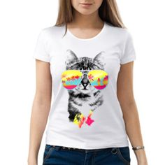 Женская футболка Солнечный кот