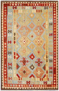 """KILIM HERAT 301x190. Alfombra Kilim Herat. Kilim Herat. Kilim anudado a mano con lana autóctona por las tribus """"turkemanas"""" en el norte de Afganistán. Los diseños utilizados son bellas estilizaciones de formas tradicionales como el """"boteh"""", octogonos, rombos engarzados... Wool Runners, Kilims, Lana, Bohemian Rug, Rugs, Home Decor, Kilim Rugs, Norte, Traditional"""
