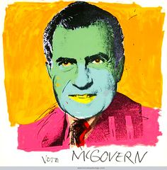 "Warhol's ""Richard Nixon"" single, 1972"