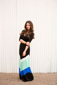"""Shades of Mint Chevron Maxi Dress from Closet Candy Boutique Code """"repjennifer""""=10% off and FREE shipping!"""