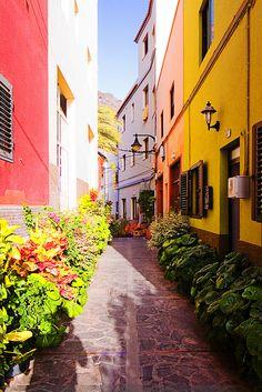 TENERIFE: La Gomera. Si has ido de vacaciones a Tenerife, sabes que, para ir a las otras islas, puedes ir en barco o en avión (aunque es un poco más económico ir en barco, la verdad). Pues yo fui en barco, y, cuando llegué, me quedé parada. ¡Era... Era... Era un sitio precioso! Parecía sacado de un cuento de hadas... Me encantó. Me gustaría ir ahí otra vez...