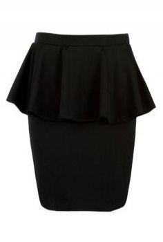 Black peplum Skirt! only $19