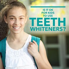 For kids' teeth at-home and professional whitening agents can sometimes cause tooth sensitivity. We recommend waiting at least until adolescence before considering tooth whitening. And we encourage our patients to ask us questions if you're concerned about discoloration! - Westside Pediatric Dentistry | #RioRancho | #NM | http://www.wspd.net/