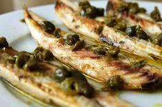 makreelfilet met kappertjes en oregano