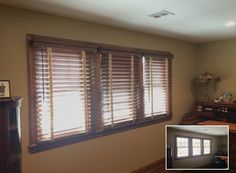 2.5-inch wood blinds Before and After