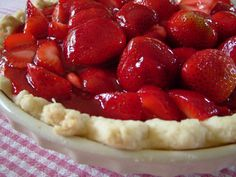 All Natural Fresh Strawberry Pie from Tia Maria's Blog. Amazingly easy and delicious!