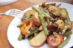 Warm Roasted Potato and Green Bean salad