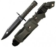 This item can not be exported out of the USA. This is a high Quality Survival Knife / Bayonet. HEAVY Black Finished 440 Stainless Steel blade is thick. Overall Length: Blade Length: Tactical Survival, Tactical Knives, Survival Knife, Survival Gear, Survival Shelter, Ballistic Knife, Sheffield Knives, Extra Large Dog House, Cordless Circular Saw