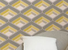 £22.47 Price per roll (per m2 £4.22), Novelty wallpaper, Carrier material: Paper-based wallpaper, Surface: Tactile relief effect, Look: Matt, Design: Retro elements, Basic colour: Cream, Yellow, Grey, Light grey glitter, Silver shimmer, Pattern colour: Cream, Yellow, Grey, Light grey glitter, Silver shimmer, Characteristics: Lightfast, Wet removable, Paste the wallpaper, Water-resistant