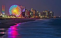 Myrtle Beach at night <3