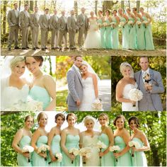 Mint and grey wedding <3