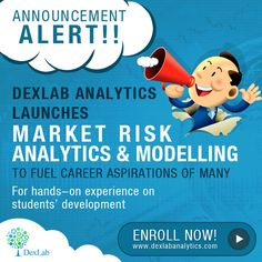 DexLab Analytics offers online classes on Market Risk Management Analytics & Modeling using SAS in Gurgaon and Delhi by focusing on economic capital model, enterprise risk, liquidity risk and predictive modeling. Risk Analytics, Market Risk, Risk Management, Training Courses, Computer Science, Online Courses, Announcement, Software, Product Launch