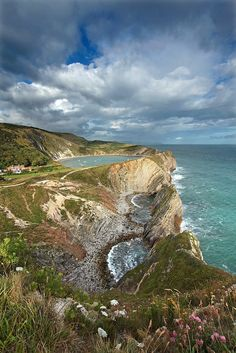 Stair Hole Heights, Dorset, England  by Tony Gill