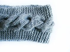 Gray Knitted Headband  READY TO SHIP  Slip On Warm by FlosCaeli, $22.00