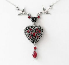 Hey, I found this really awesome Etsy listing at https://www.etsy.com/listing/83209225/red-heart-locket-necklace-red-swarovski