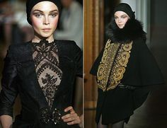 Models wear creations from the Christian Lacroix autumn/winter 2009/10 Haute Couture collection