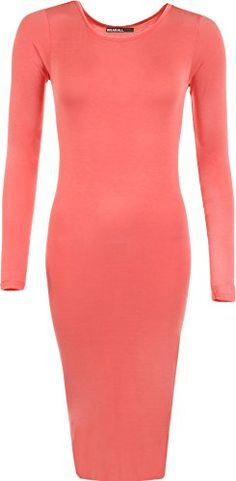 WearAll - Robe mi-longue à manches longues avec un col rond - Robes - Femmes - Corail - 36-38 WearAll http://www.amazon.fr/dp/B00BLNXMWS/ref=cm_sw_r_pi_dp_v3Dtwb0CSN3MN