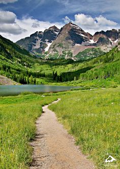 Maroon Lake - Aspen, Colorado.  Go to www.YourTravelVideos.com or just click on photo for home videos and much more on sites like this.