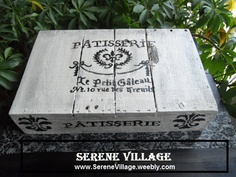 Serene Village - French Vintage Decor, Box, Crate, Cake Stand, Shabby Chic