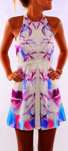 Floral + Sleeveless Dress. #floral