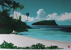 RELAX画「海と島(1/10)」[柳田英夢] | ART-Meter