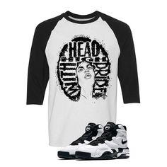 Nike Air Max 2 Uptempo 94 'White & Black' Baseball T (HEAD HIGH) Nike Air Max 2, Baseball T, Matching Shirts, Street Wear, T Shirt, Clothes, Black, Tops, Women