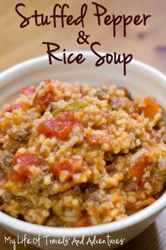 Stuffed Pepper & rice soup! A FAVORITE! by @lifeoftravels