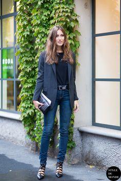 Giorgia Tordini Street Style Street Fashion Streetsnaps by STYLEDUMONDE Street Style Fashion Blog