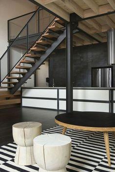 Znalezione obrazy dla zapytania schody metalowe nowoczesne