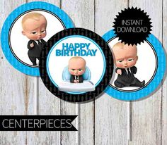 BOSS Baby Birthday Party PRINTABLE Centerpieces Instant