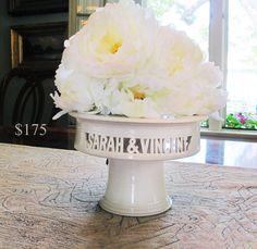 Cake+Plate+Wedding+Decor+++Personalized+ceramic+cake+by+MaidOfClay,+$350.00