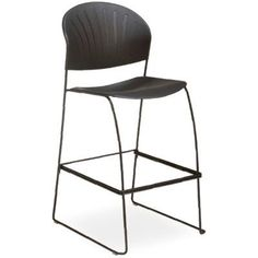 OCISitwell SV Armless Stacking Chair Frame Finish: Black, Seat Finish: Lime