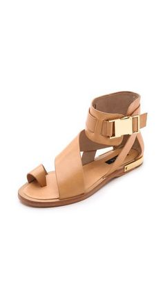 57d030b2964ced Cute Summer sandals you can wear to work  Rachel Zoe boho comfortable flat  strappy Poppie