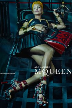The Essentialist - Fashion Advertising Updated Daily: Alexander McQueen feat. Kate Moss Ad Campaign Spring/Summer 2014