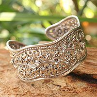Thailand's Achara presents an elegant cuff #bracelet that is shaped after the flowing path of the Mae Ping River