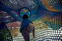 Toshiko Horiuchi MacAdam and Interplay.Wonder Space II at the Hakone Open-AirMuseum, Japan