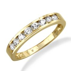 Engagement Ring Gold Channel Setting 47