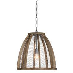 Chicken Wire Dome Pendant Light - Primitive Rust - McDowell Design ...