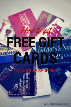 Earn Gift Cards For Holiday Shopping